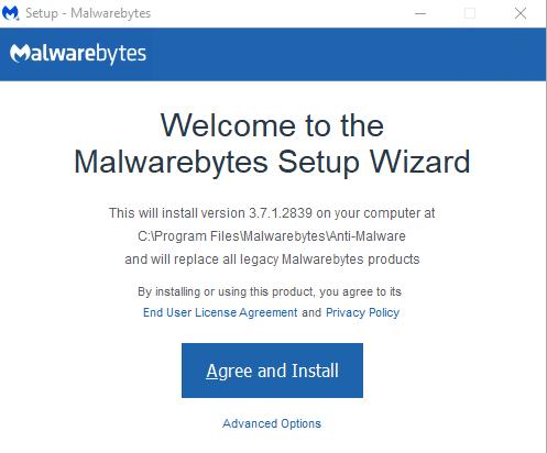 ยินยันการติดตั้ง - วิธีโหลดและติดตั้ง Malwarebytes